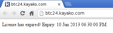 Bitcoin24 kayako license expired